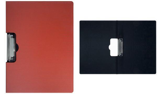 MAUL Klemmbrett-Mappe MAULgrid, DIN A4, PP, rot/schwarz
