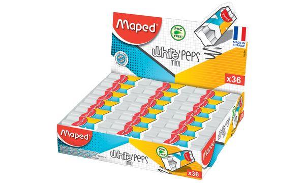 #36xMaped Kunststoff-Radierer WhitePeps Mini, 36er Display