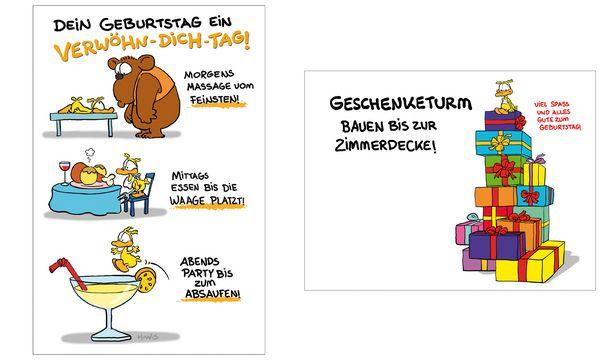 SUSY CARD Geburtstagskarte - Humor Verwöhn-Dich-Tag