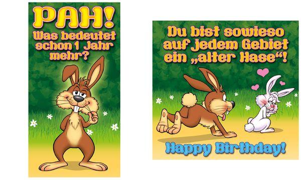 SUSY CARD Geburtstagskarte - Humor Alter Hase