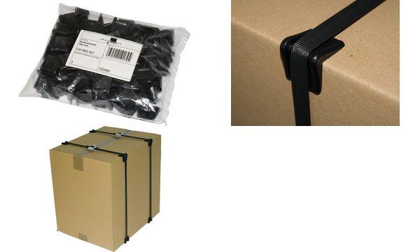 smartboxpro Kantenschutzecken, für Umreifungsband, schwarz