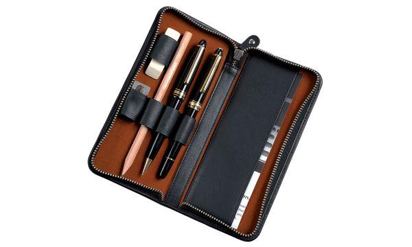 Alassio Schreibgeräte-Etui, für 3 Schreibgeräte, schwarz
