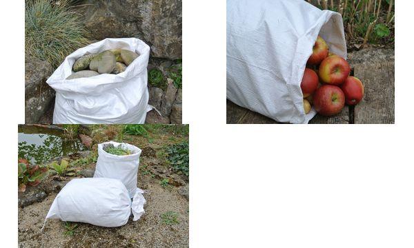 dm-folien PP-Gewebesäcke, (B)400 x (H)600 mm, weiß