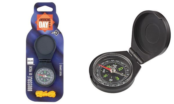 JPC Taschen-Kompass, Durchmesser: 45 mm, mit Deckel