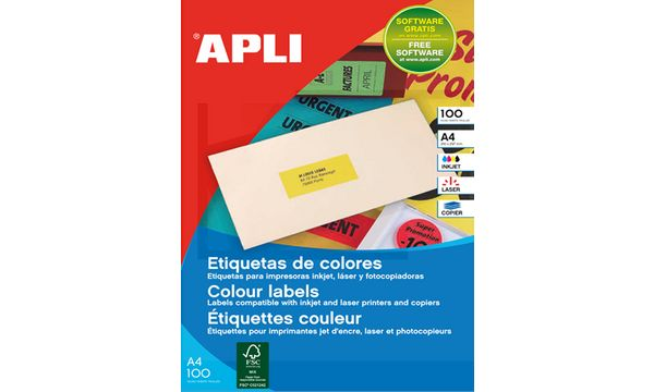 agipa Adress-Etiketten, 210 x 297 mm, neon orange