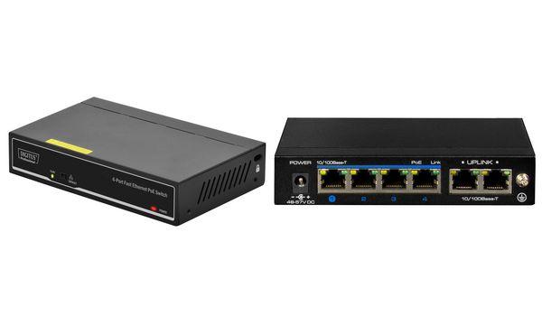 DIGITUS PoE Fast Ethernet Switch, 4 Port