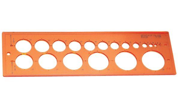 MINERVA Kreisschablone 17, Kreise von 1 - 37 mm
