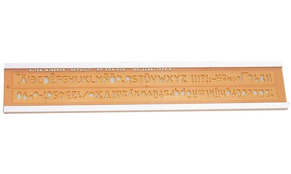 MINERVA Schriftschablone, Schrifthöhe: 5 mm