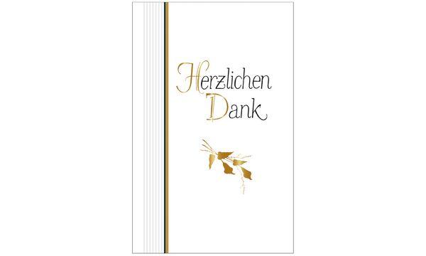 SUSY CARD Danksagungskarten - Trauer Blätterzweige