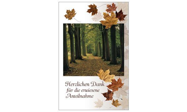 SUSY CARD Danksagungskarten - Trauer Herbstwald