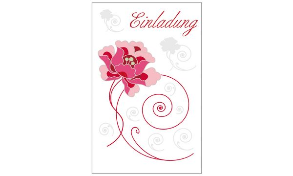 SUSY CARD Einladungskarten - Allgemein Blumenranke