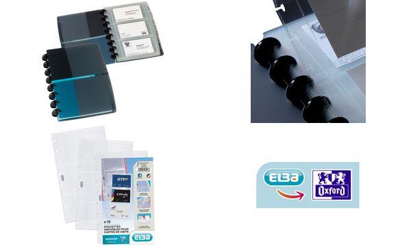 ELBA Ringmappen-Visitenkartenhüllen PROLINE vario-zipp