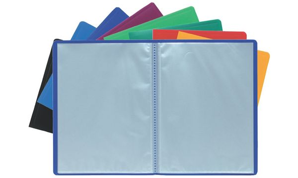 EXACOMPTA Sichtbuch, DIN A4, PP, 80 Hüllen, blau