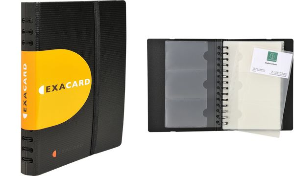 EXACOMPTA Visitenkarten-Hüllen, für 6 Visitenkarten