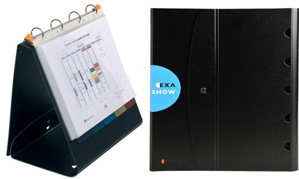 EXACOMPTA Tisch-Flipchart EXASHOW, A4 quer, PP, schwarz