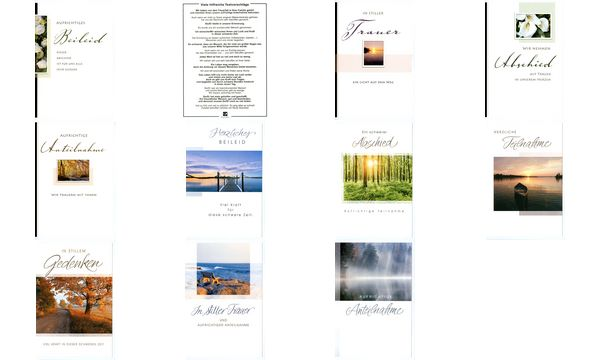 HORN Trauerkarte - Waldlichtung - inkl. Umschlag