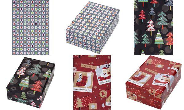 JUNG DESIGN Weihnachts-Geschenkpapier Mix Mas, Rolle