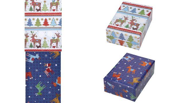 JUNG DESIGN Weihnachts-Geschenkpapier Rudolphi, Rolle