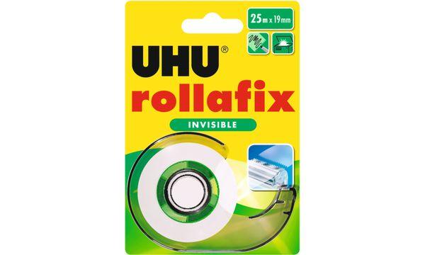 UHU Klebefilm rollafix invisible, inkl. Handabroller