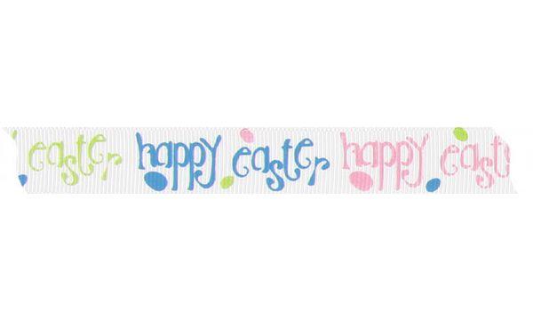 Hotex Geschenkband Ostern happy easter, 15 mm x 25 m