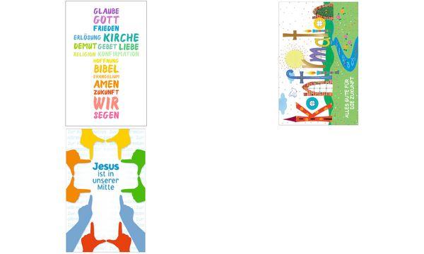 SUSY CARD Konfirmationskarte Bunte Wiese