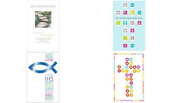 SUSY CARD Konfirmationskarte Textblock und Fisch