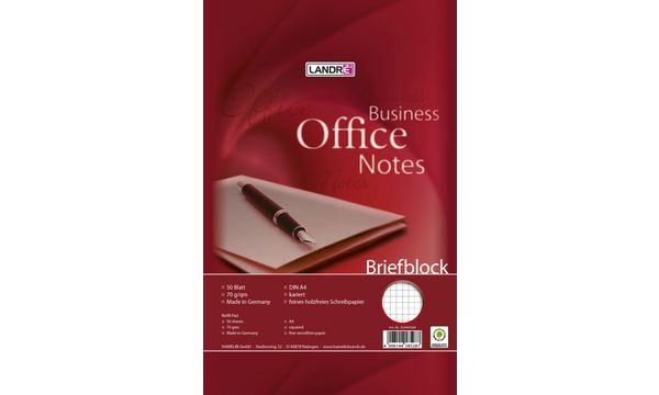 LANDRÉ Briefblock Business Office Notes, DIN A4, kariert