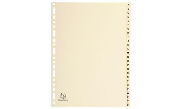 EXACOMPTA Karton-Register A-Z, DIN A4, 26-teilig