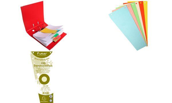 EXACOMPTA Trennstreifen, trapezförmig, Karton, orange