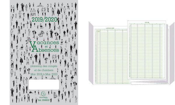 EXACOMPTA Planning des congés 2019/2020, mai 2019 à mai ...