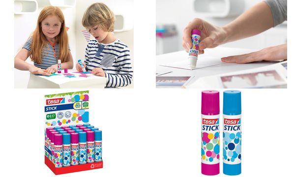 #24xtesa ecoLogo Stick Klebestift, pink&blau, 10 g,Theke...