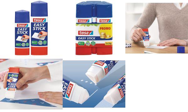 tesa ecoLogo Easy Stick Klebestift, Promo-Pack 3 x 25 g