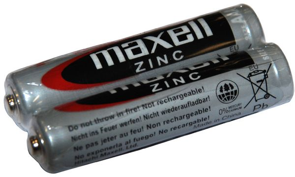 maxell Zink Batterie, Micro AAA, 2 Pack Shrink