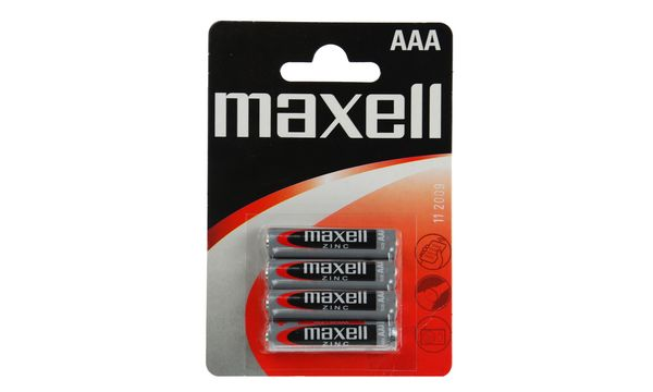 maxell Zink Batterie, Micro AAA, 4 Pack Blister