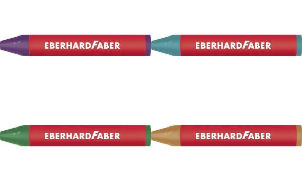 EBERHARD FABER Dreikant-Wachsmalkreide, smaragdgrün