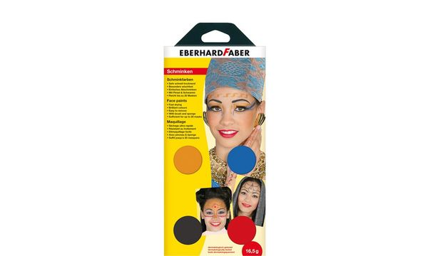 EBERHARD FABER Schminkfarben-Set Oriental, 4 Farben