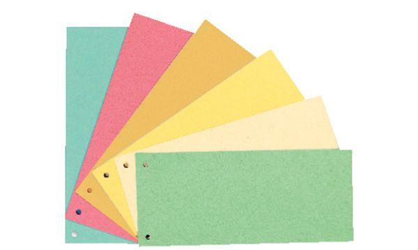 Esselte Trennstreifen, für DIN A4 Format, gelocht, orange
