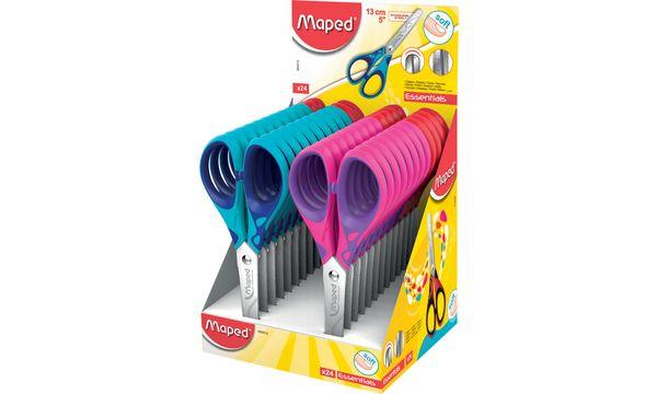 #24xMaped Bastelschere Essentials Soft, Länge: 130 mm, D...