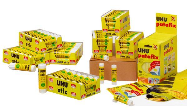 UHU Schulmodul Klebestift stic + Klebepads patafix