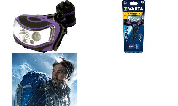 VARTA LED-Kopflampe Outdoor Sports H30, 2 x 1 Watt LEDs