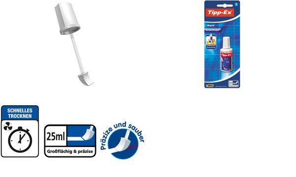 Tipp-Ex Korrekturflüssigkeit Rapid, weiß, 25 ml, Blister