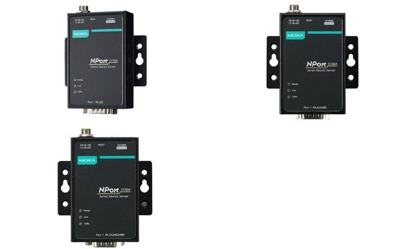 MOXA Serial Device Server, 1 Port, RS-232, Nport-5110A