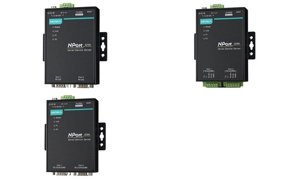 MOXA Serial Device Server, 2 Port, RS-232, Nport-5210A