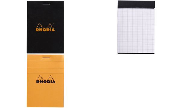 RHODIA Notizblock No. 11, DIN A7, kariert, orange