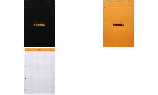 RHODIA Notizblock No. 20, DIN A4+, franz. Lineatur, orange
