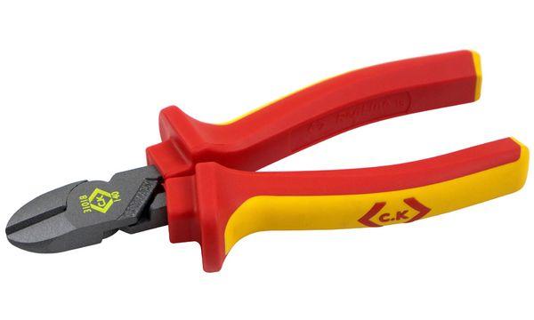 C.K VDE Seitenschneider, Länge: 140 mm, rot/gelb