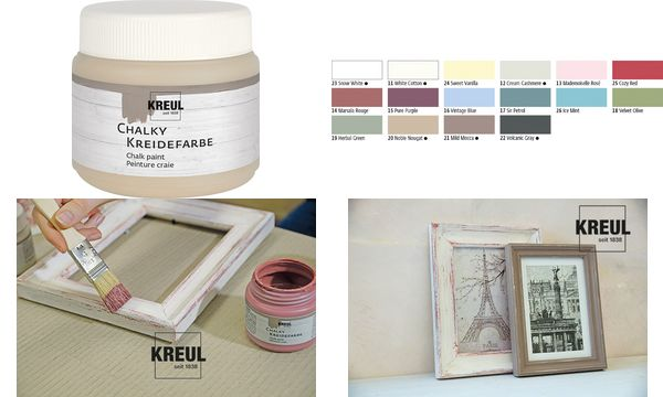 KREUL Kreidefarbe Chalky, Noble Nougat, 150 ml
