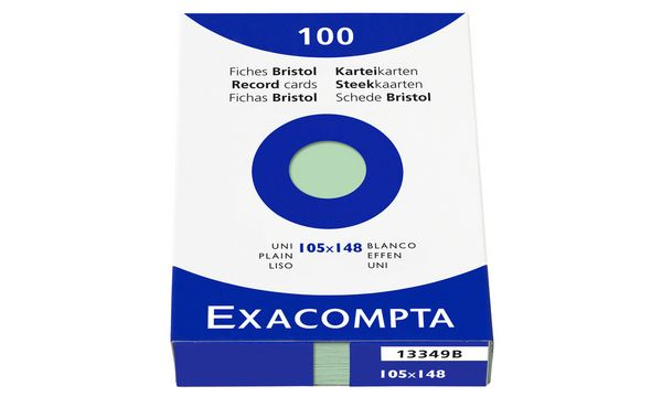 EXACOMPTA Karteikarten, DIN A6, liniert, rosa