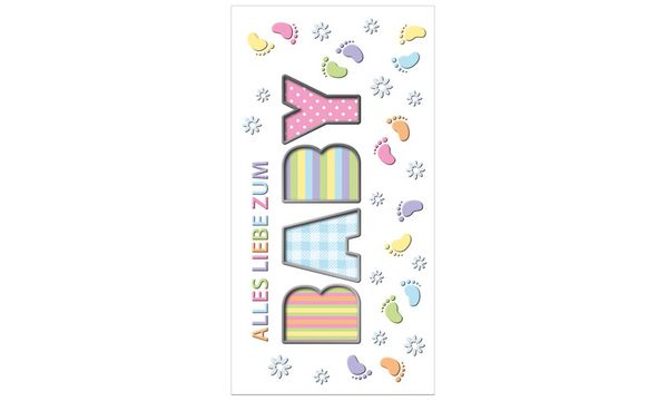 SUSY CARD Geburtskarte BABY-Babyfüße