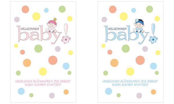 SUSY CARD Geburtskarte Mädchen